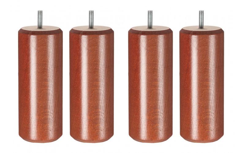 Pied Bois cylindre Merisier 17 cm