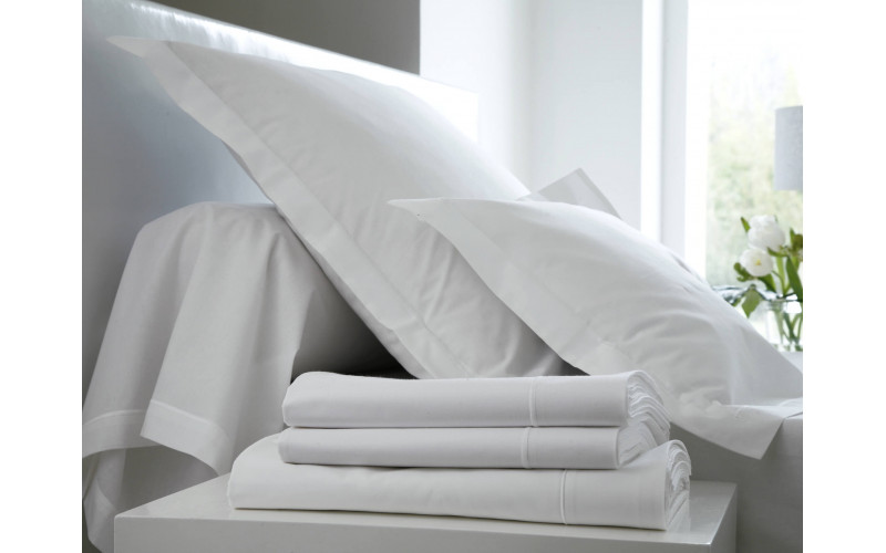 Ensemble Uni Percale Blanc