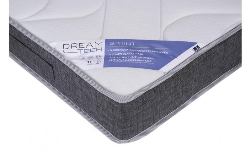 ensemble literie Dreamtech Sprint-toundra gris